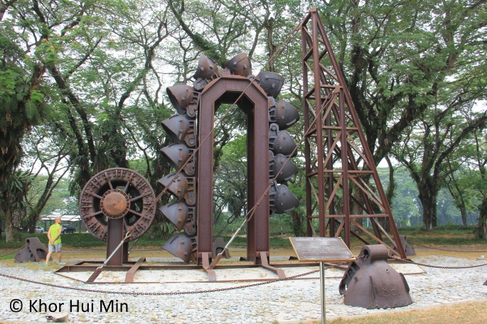 Sculpture entitled 'Goodbye Tin-Mining'. The sculpture is located inside Clearwater Sanctuary, Perak.