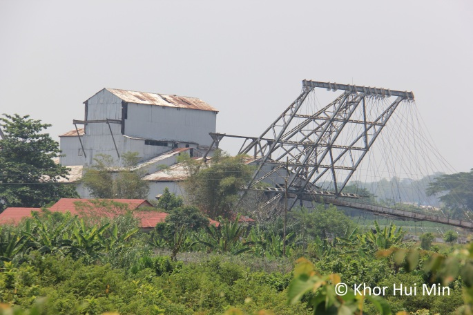 The last tin mine dredge in Chendrong, Perak