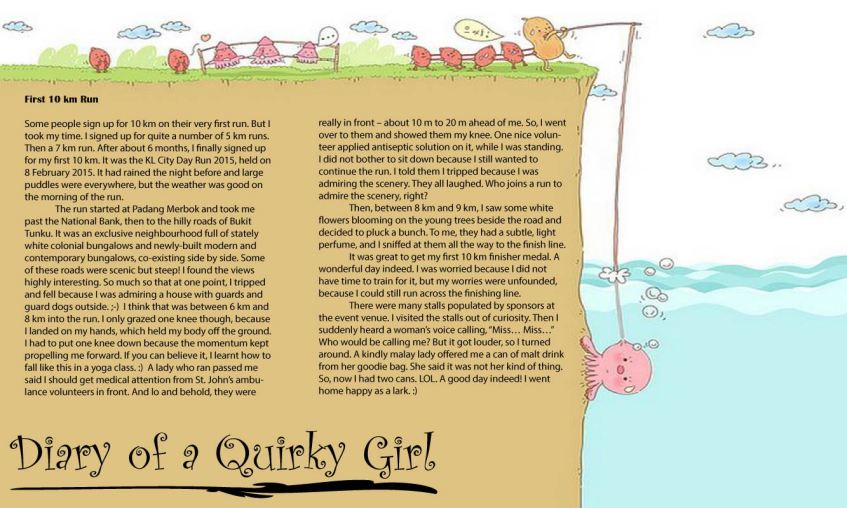 Diary of a Quirky Girl, 7.04.2015