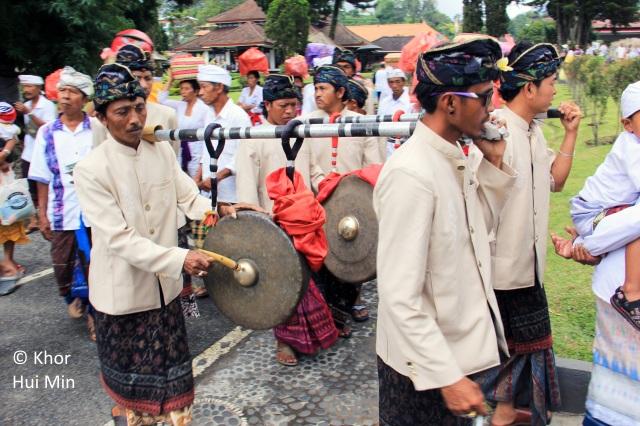 Procession at Ulun Danu Keberatan Temple
